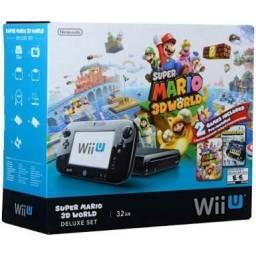 Wii U Deluxe Bundle Mario3d(travado) + 2wii Remote 11Jogos