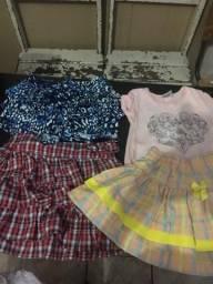 Combo de roupas pra menina até uns 5 anos