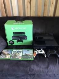Xbox one + kinect + 2 controles + 3 jogos