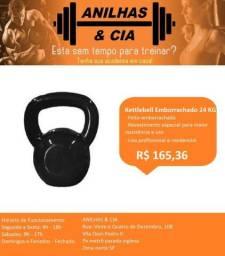 Kettebell emborrachado 24kg por R$ 165,36 cada comprar usado  São Paulo
