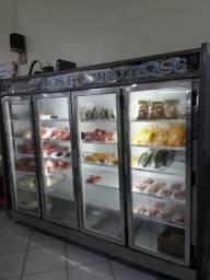 Balcão refrigerado (expositor) 4 portas