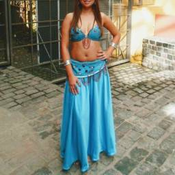 Figurino de Dança do Ventre azul (P/M)