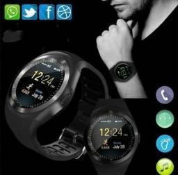 $90 relogios Smart inteligente y1/bluetooth/chip/música/notificação etc.