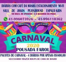 Pousada farol-Carnaval Pacote 4 diárias- $ 800,00 o quarto