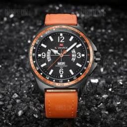 9495ea63272 Relógio Naviforce laranja brilhante original a prova d água