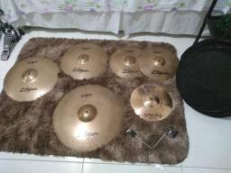 Kit Pratos para Bateria Zildjian ZBT + Splash Orion + Clamp + Bag