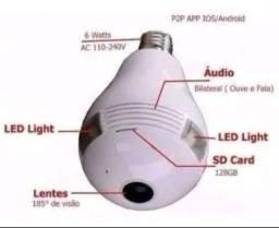 Lâmpada LED com Câmera 360º WIFI v380