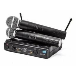 Microfone profissional duplo sem fio
