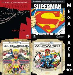 HQs Dc Comics Origens - Mega Pack - pacote c/ 4 HQs