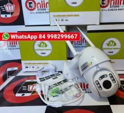 Câmera 360° Full Hd Speed dome Conexão ip Wifi e sensor de movimento