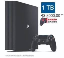 Play Station 4 Pro 1Tb Preto Novo