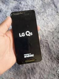 Vendo LG Q6 de 32gb trincado porém funcionando tudo normalmente