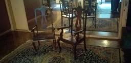 Par cadeiras braço madeira maciça
