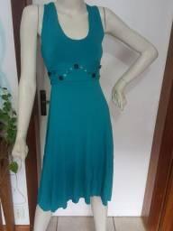 Vestido malha verde tamanho M