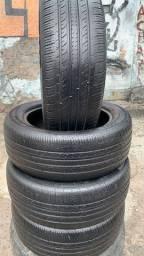 Vendo 04 pneus 205/55/16 meia vida , 90,00 cada já montado !!!