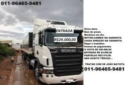 Scania G420 ano 2009 engatada bitrem agregada