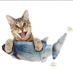 Peixe Elétrico Para Gatos Brinquedo + Usb + Catnip