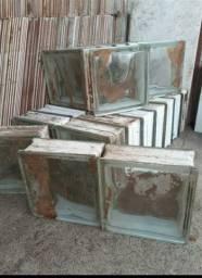 24 blocos  de vidro novos