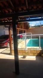 JCI - Casa 2 qts suíte churr piscina perto da rua 20, no Jardim Atlântico