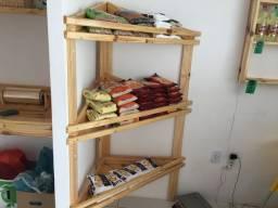 Expositor de madeira para Hortifruti