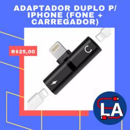 Adaptador duplo IPhone (Fone + Carregador)