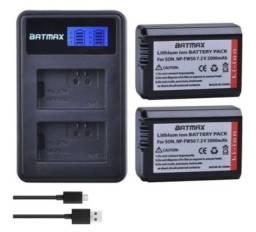 Carregador e bateria para câmeras Sony