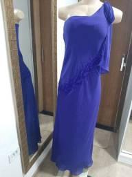 Vestido de festa Azul Royal com pedrarias n.40