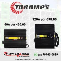 Fonte e carregador de baterias de 60 ou 120 amperes