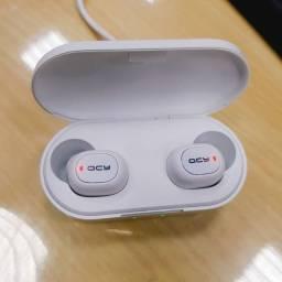 Fone Original Qcy T1C cor Branca - sem Fio Bluetooth