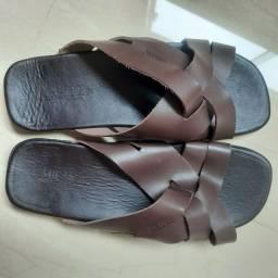 Sandália masculina de couro Milan Nova