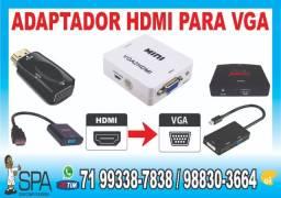 Cabo Adaptador Hdmi para Vga em Salvador Ba