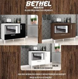 Balcão pra cooktop com 2 compartimentos  balcão balcão