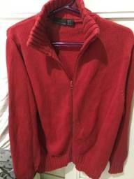 Só p/RJ - Casacão de tricô da ZARA Bulgária -tam M -Vermelho