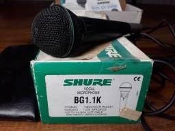 Microfone shure modelo bg 1.1k em excelente estado