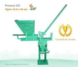 Maquina Prensa de Tijolos Ecológicos!