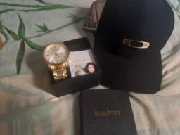 Relógio Malotty a prova d'água+ Boné Oakley