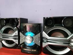 Som TOP Mini system Panasonic 1200w rms,2usb,aux,bluetooth,2 GB memoria, Aceito Propostas