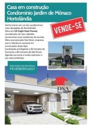 Casa em Steel Frame no Residencial Jardim de Mônaco em Hortolândia CA0203