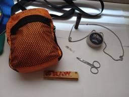 Shoulder bag + kit pala e correntinha aço inox