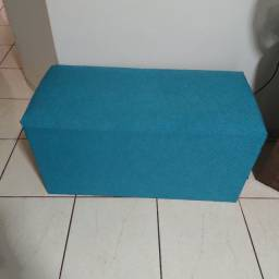 Puff Azul Macio Grande