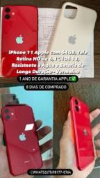 IPhone 11 red lindo 1 ano de garantia apple (8 dias de comprado)