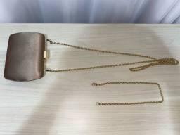 Clutch Cetim Dourada (Donna Brasil)