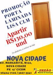 Promoção Porta Laminada Lisa CLM, apartir de R$130,00, no dinheiro.