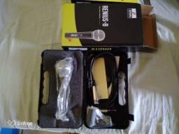 Kit Arcano microfone Renius-8 XLR-P10 + Pedestal PMV-100