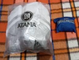 Kimono Jiu Jitsu Atama + Rash Guard Stormstrong oficial Azul (Usados)