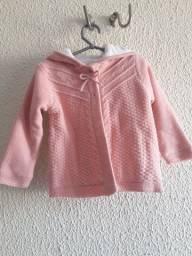 Casaquinho de tricôt rosa