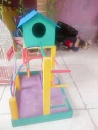 Gaiola para Passarinhos e Playground