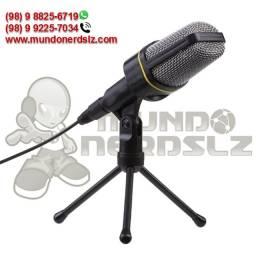 Microfone Condensador HomeOffice Preto Cabo 1,8m SF-920 em São Luís Ma