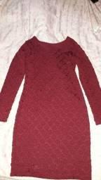 Vestido de manga comprida simples