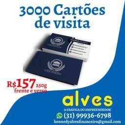 3000 Cartões de visita Frente e Verso